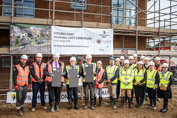 An image relating to Topping out ceremony for affordable homes in Tatling End