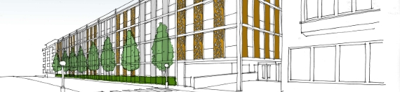 Revised proposals for a multi-storey car park in Gerrards Cross